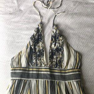 Linen halter dress by J. Crew